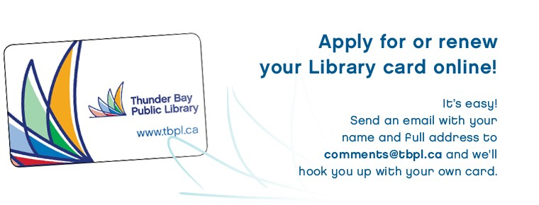 Image of library card inviting application